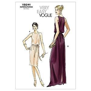 Vogue patterns v8241 misses'petite taille, robe et ceinture aA (10–12 6–8- vogue patterns by)