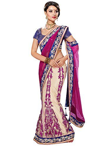 Viva N Diva Pink And Cream Color Net Lehenga saree new collection  available at amazon for Rs.2799