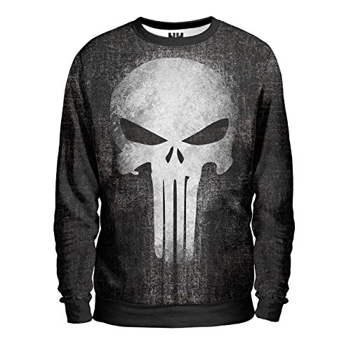 THE PUNISHER - Marvel Comics Sweatshirt Man - Felpa Uomo - Spiderman T-Shirt Serie TV Fumetti Film Supereroi Il Punitore