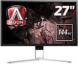 AOC Agon 27 inch 144 Hz 2560 x 1440 LED Gaming Monitor, 1 ms Response Time, Height Adjust, Display Port, HDMI, DVI, VGA, Speakers, 4 x USB 3.0, Adaptive Sync, Vesa AG271QX