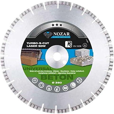 Profi Laser NOZAR thuppaki vetro Turbo-S-cut SDW per calcestruzzo e senza gabbia, vecchio calcestruzzo, lavibili in calcestruzzo, mattoni (medio duro), tetto padeiie (medio duro), materiale da costruzione allg. - Laser Profi Laser