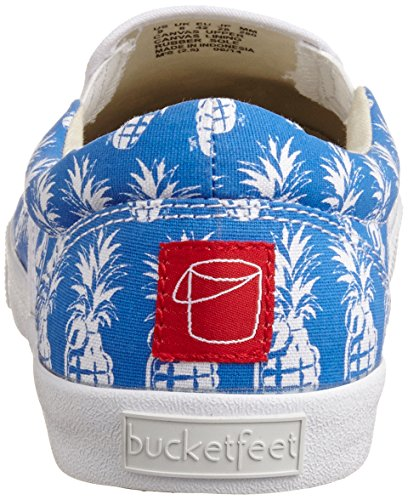 Bucketfeet Pineappleade Womens Slip On Shoes Navy White