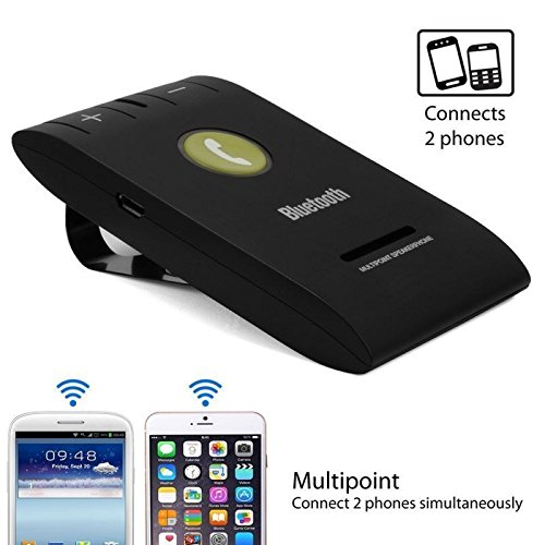 Sleek Multipoint Bluetooth Lautsprecher für iPhone/Android, Wireless Car Audio Kit -