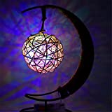 Yaojiaju RGB LED Lampe, mehrfarbige Lichter LED Retro Style Twine Kupfer Runde Ball Festival Beleuchtung Schlafzimmer (1pcs) LED