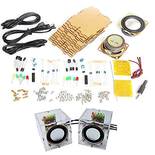 SODIAL Kit de Altavoces DIY con Estuche 3Wx2 Amplificador Altavoz ElectróNica DIY...