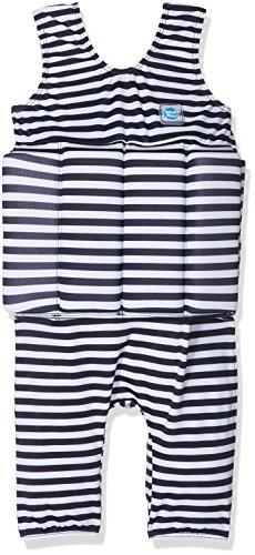 Splash About Kinder Short John Float Anzug mit Reißverschluss, Navy White Stripe, 2-4 jahre (Short Reißverschluss John)