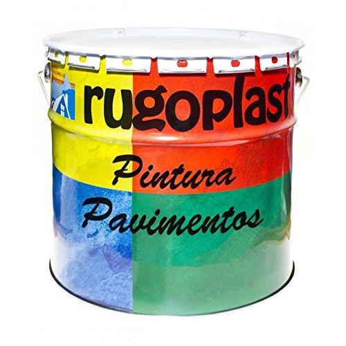 Pintura monocomponente para suelos y garajes ( hormigón, morteros de cemento y derivados ) al clorocaucho alta dureza varios colores (15L, Gris) Envío GRATIS