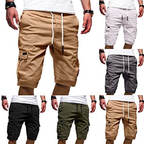 Pantaloncini uomo shorts estivi uomini pantaloncini corti da uomo palestra costume da bagno pantaloni sportivi da jogging da spiaggia da lavoro con tasche