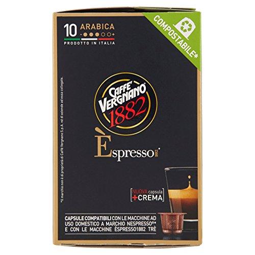 Caffè Vergnano 1882 Èspresso1882 Arabica - 10 Capsule - Compatibili Nespresso [confezione da 3]