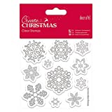 Create Christmas Clear Stamps Schneeflocke, 11-tlg.