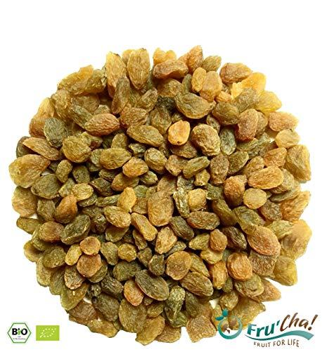 WIEDER DA!! – Fru'Cha! – BIO grüne Premium-Rosinen im Schatten getrocknet, Rohkostqualität aus kbA – 1000g