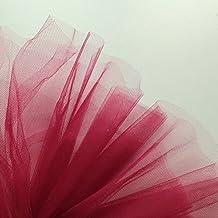 Tela de tul de color vino granate rojo oscuro de 300cm de ancho - Se vende por metro - Apto para trajes de baile, enaguas, velos, plisado y fruncido