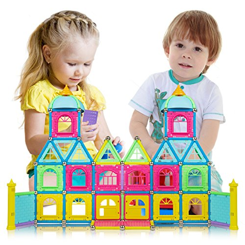 Magnetic Building Sticks Set | Safe, Non-Toxic Colourful Construction Toys | Educational Learning Toy To Enhance Creative Thinking & Fine Motor Skills | Excellent Gift | Magnetic Rods Building Kit
