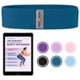 Sport2People elastisches Fitnessband für Beine und Hintern - kostenlosen Ebook für Po-Übungen- Fitnessbänder Set aus Stoff für Hintern und Hüfte - Sportband für Krafttraining, Hausgymnastik, Fitness