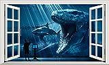 Chicbanners Jurassic World V007Selbstklebend Magic Wandtattoo Fenster Poster Wall Art Größe 1000mm Breit x 600mm Tief (groß)