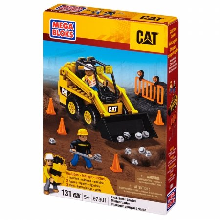 Mega Brands 97801 Mega Bloks - Hometown - CAT Skid-Steer Loader by Mega Brands (Truck-box-tank)