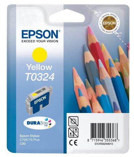 Epson T0324 Cartouche d'encre d'origine Pigment Jaune pour Stylus C70 C80