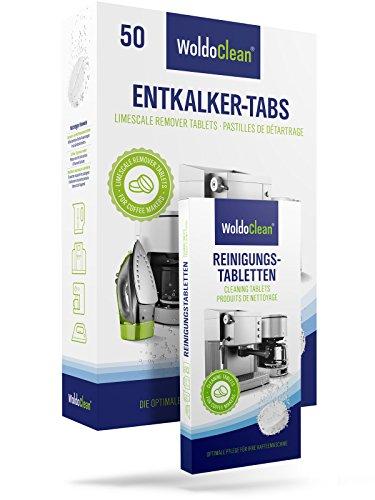 Reinigungset Kaffeevollautomat 50x Entkalkertabs 10x Reinigungstabletten - Kaffeemaschinen Entkalker...