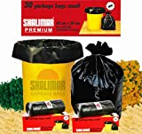 #8: Shalimar Premium Garbage Bags (Small) Size 43 cm x 51 cm 6 Rolls (180 Bags)