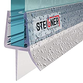 STEIGNER 70cm Ersatzdichtung für 6mm/ 7mm/ 8mm Glasdicke Wasserabweiser Duschdichtung UK03 Schwallschutz Duschkabine