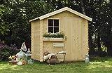 Alpholz Gerätehaus Antwerpen 210 x 210cm aus Fichten-Holz | Gartenhaus inkl. Dachpappe | Geräteschuppen naturbelassen Ohne Farbbehandlung (210 x 210cm)