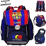 alles-meine.de GmbH Schulranzen -  Fussball - FC Barcelona - FCB  - inkl. Name - Superleicht & ergonomisch + anatomisch - Brustgurt - Ranzen Tornister / Schulrucksack / mit Ref..