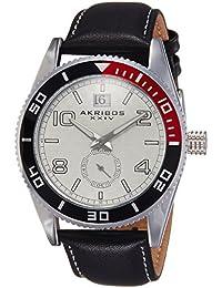 Akribos XXIV Reloj Plateada redonda de los hombres