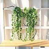 JUSTOYOU 6er-Pack künstlicher Efeu, hängende Girlande, ca. 95cm lang, künstliche/unechte Pflanzen, für den Innen-/Außenbereich, Hängekorb, Haus- oder Gartendekoration, Hanging Plants Style 1, 6pcs 3ft