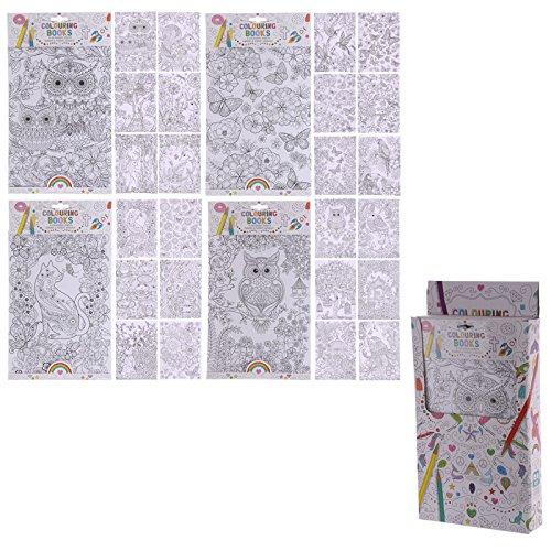 36x Fun Garten Design für Erwachsene und Kinder Malbücher (6Seiten)–Pack Höhe 36,5cm Breite 21,5cm Tiefe 0,2cm Seite 30x21.5cm (Kinder-gießkanne Krug)