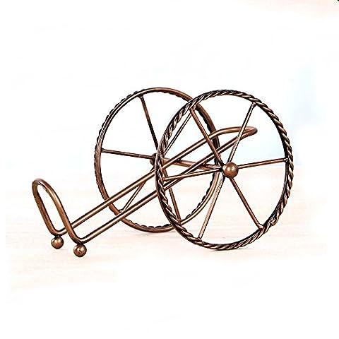 Eisen Zweirad-Modell Weinregal Weinschrank Ornament Dekoration Weinständer Kreative Wohnaccessoires Fit