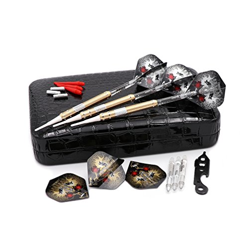 Cuesoul 16 Grams Deluxe Soft Tip Darts Set with Luxury Case(JL-STL-B1101+D604) Deluxe Soft Case
