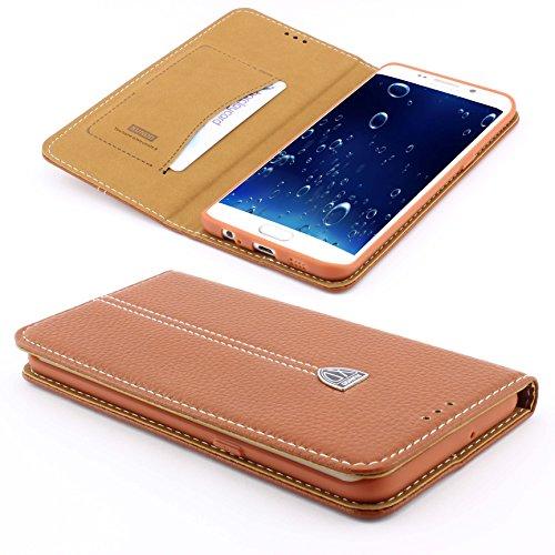 84 Serie Leder ([ S8 ] Handy Schutz Tasche Noble Series Cover für Samsung Galaxy [ S8 ] edle Book Style Hülle mit Aufstellfunktion und Kartenfach ScorpioCover braun)