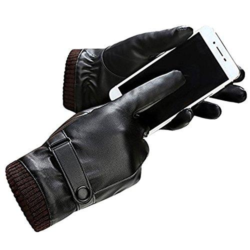 Herren Lederhandschuhe by AKI Für Den Winter, Touchscreen,hochwertige Baumwolle
