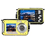 MARVUE 801 Unterwasser-Digitalkamera 24MP wasserdichte Video-Camcorder FULL HD 1080P Self Shot Dual-Screen DV Recorder