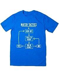 Balcony-Shirts Match Tactics - Pass To Vardy' Mens Funny Football T Shirt