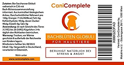 CaniComplete Calming aid for nervous Dogs, Cats, Bach Pet Rescue Remedy - against fear, stress, storms, fireworks, ENG instructions on 3rd Pic from CaniComplete