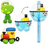 Halter für Zahnbürste -' Schiff / Boot' - mit Saugnapf - Badezimmer Bad / für die Zahnbürste - Zahnbürstenhalter / Halterung - für Kinder Baby & Erwachsene - Kinderzahnbürste / Mädchen Jungen - Wand Putztrainer - Babyzahnbürste - Zähne putzen - Kleinkinder Zahnbürsten / Zähneputzen lernen - Wandhalterung - Fahrzeug / Schiffe Dampfer