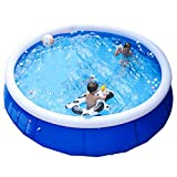 LINGGE Whirlpool Swimmingpool Aufblasbar Pool Outdoor Sommer-Party Erwachsenen aufblasbaren Pool, Kinder rechteckigen Familienbad, geeignet für mehr als 3 Jahre alt