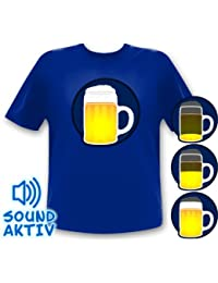 Party Beer glass Shirt / Beer LED T-Shirt Equalizer Sound responive (xxl)