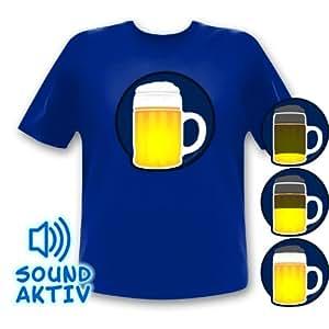 Bier Party T-shirt à LED pour déguisement de carnaval Oktoberrfest (xxxl)