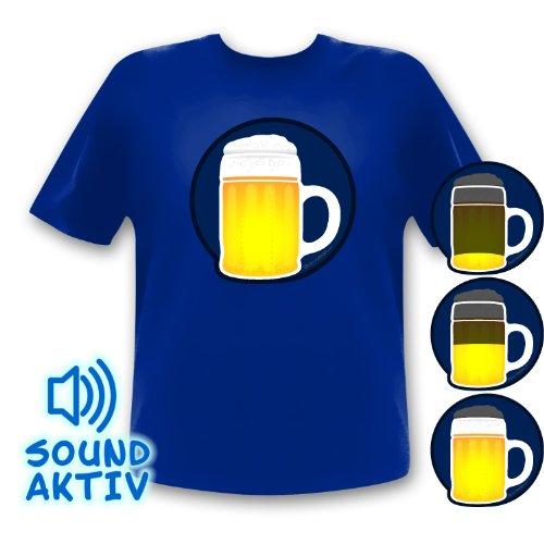 Preisvergleich Produktbild Bier Party Shirt LED T-Shirt Fasching Karneval Oktoberrfest (xxxl)