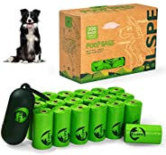 BLSPE Dog Poop Bags Pet Dog Supplies 300 Bag 20 Rolls With Dispenser and Waste Dog Poop Bag Leash Clip for Dog