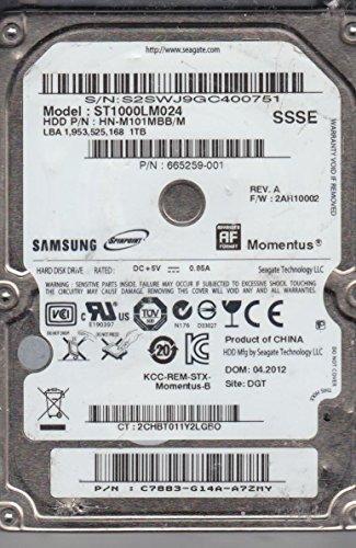 Preisvergleich Produktbild ST1000LM024, HN-M101MBB/M, FW 2AR10002, SSSE, Samsung 1TB SATA 2.5 Festplatte