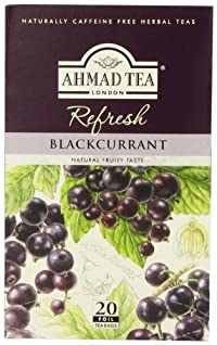 Ahmad Tea, Blackcurrant, 20-Count (Pack of 6)