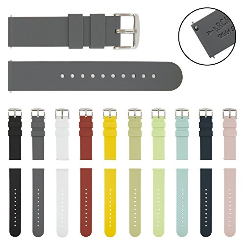 archer-watch-straps-quick-release-silicone-soft-rubber-replacement-bands-graphite-20mm