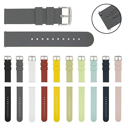 archer-watch-straps-quick-release-silicone-soft-rubber-replacement-straps-graphite-22mm