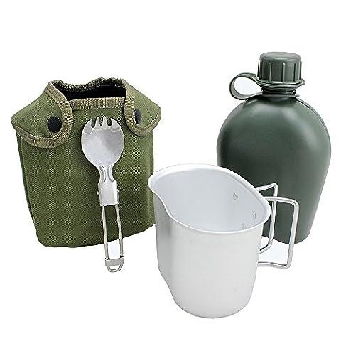 BeGrit 1 Quart Outdoor Kessel Kantine Kit mit Aluminium Cup