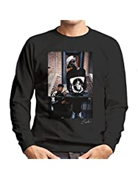 Lawrence Watson Official Photography - Public Enemy Flavor Flav Chuck D On Steps Men's Sweatshirt