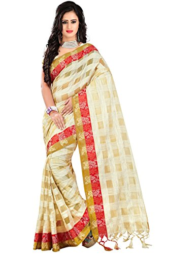Trendz Women's Cotton Silk Saree(TZ_Pratibha_Red_Red_Free Size)  available at amazon for Rs.229
