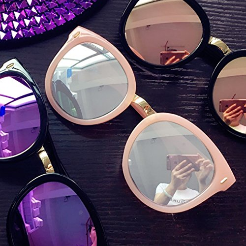 Sunyan der koreanischen Version der retro Big Box Sonnenbrille, ein rundes Gesicht Persönlichkeit Myopie Sonnenbrille weibliche koreanische Tide 2016 Gläser Mädchen neue, Pink Mercury reflektierende